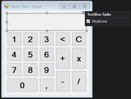 C# Hesap Makinesi Yapımı Form Uygulaması